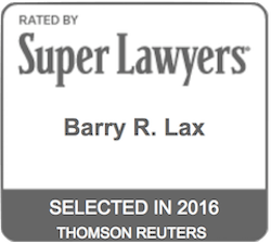 Barry R. Lax - Super Lawyers 2016