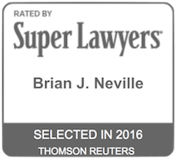 Brian J. Neville - Super Lawyers 2016
