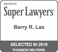 Barry R. Lax - Super Lawyers 2018